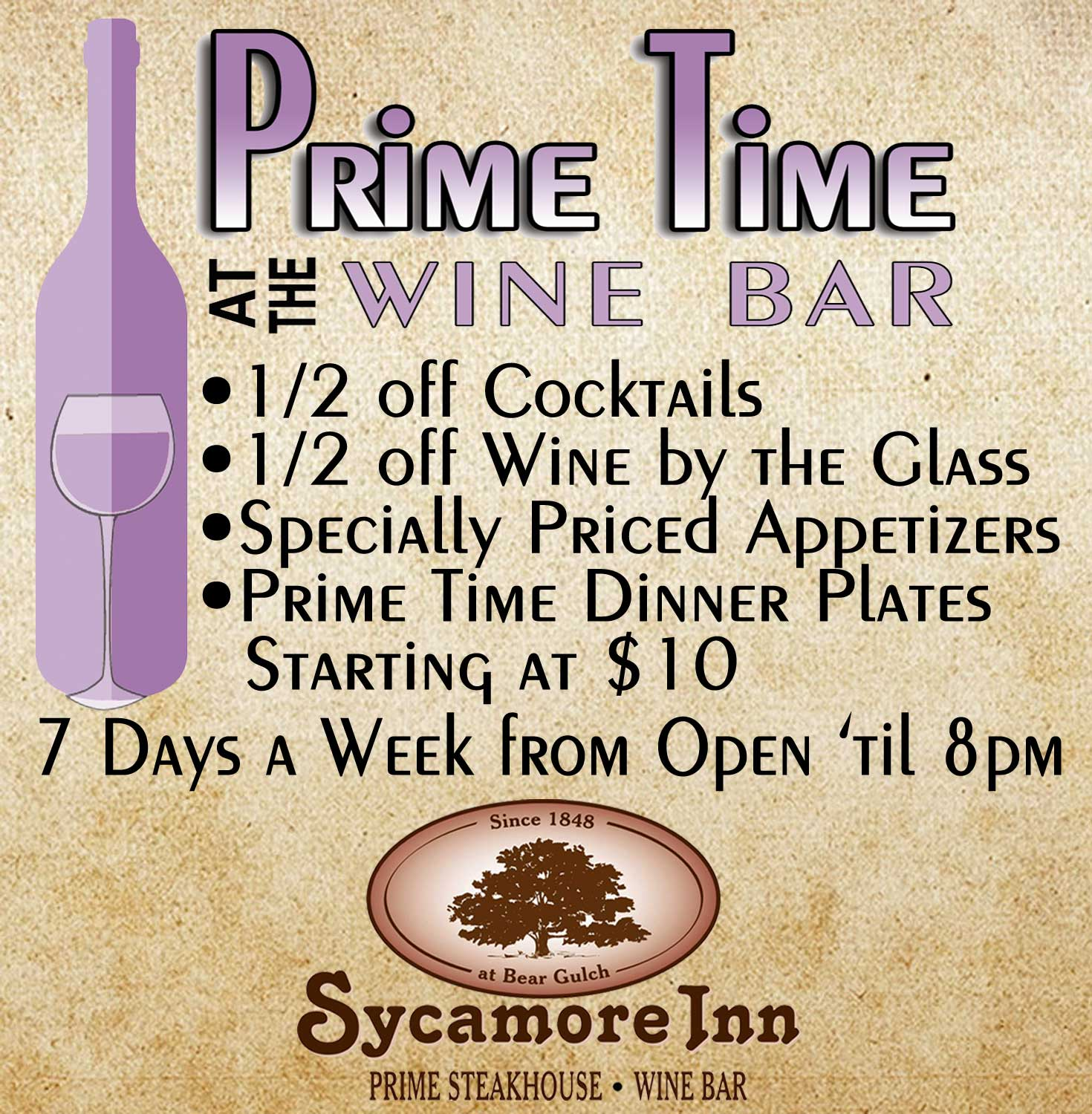Fine Dining and Banquets - The Sycamore Inn